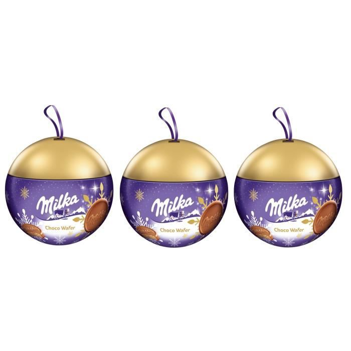 3x Milka Choco Wafer Boule de Noël 180g   Achat / Vente bonbons