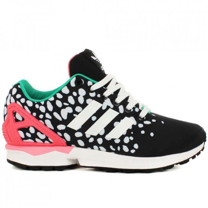 adidas zx flux noir rose et blanc