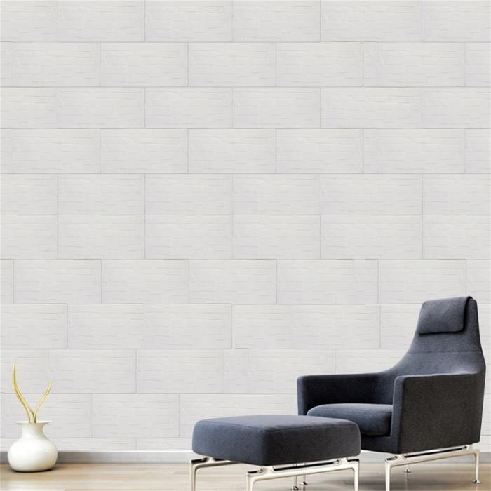 3d Papier Peint Brique Auto Adhesif De Mur Style Moderne Pour Bureau A Maison De Salon 590x590mm Achat Vente Papier Peint 3d Papier Peint Brique Cdiscount