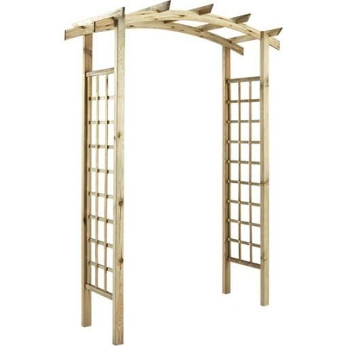pergola double en arc en bois violette achat vente pergola pergola double en arc en bo. Black Bedroom Furniture Sets. Home Design Ideas