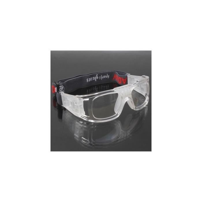Lunettes de basket Wrap sport Basketball Football Jeu Transparent n°1