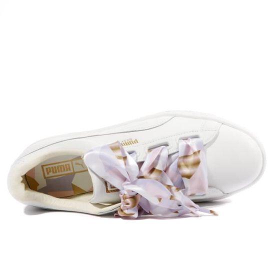 Heart Geo Camo Femme Chaussures Blanc Puma Blanc Achat
