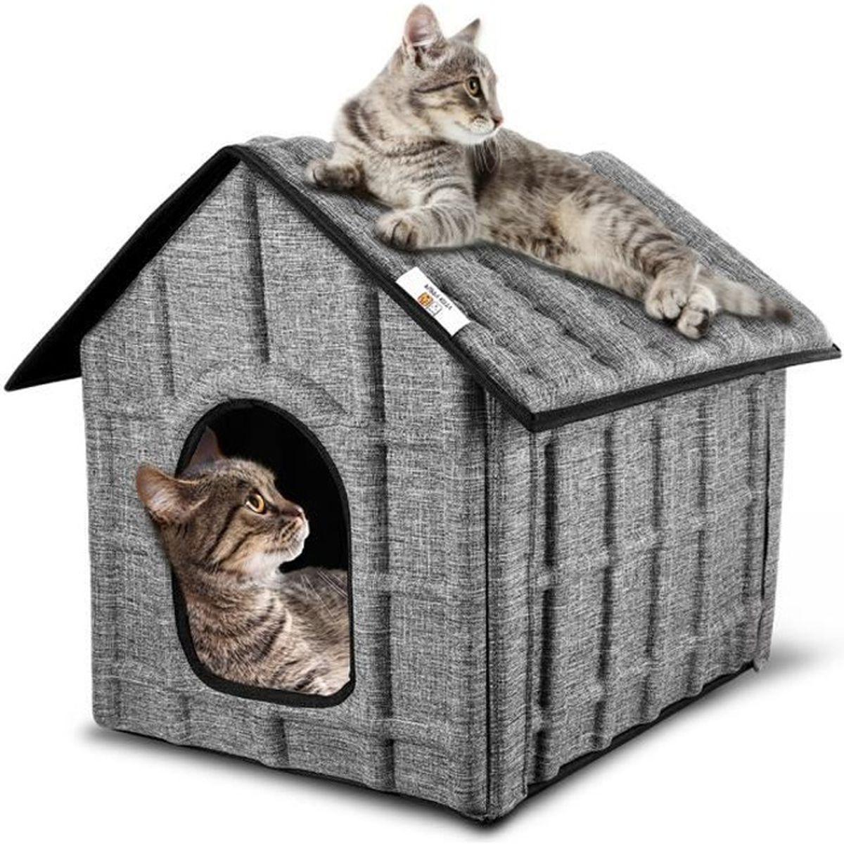 Arbre A Chat A Faire Maison maison pour chat extérieur, puppy kitty hiver chat cabane