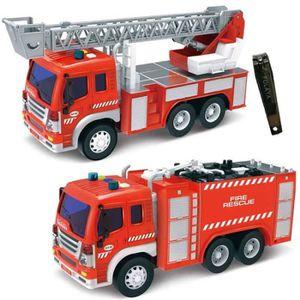 VOITURE ELECTRIQUE ENFANT  Jouets Camion de Pompiers avec Echelle pour Enfan