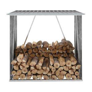 ABRI JARDIN - CHALET Abri de stockage de bois Acier galvanisé 163x83x15