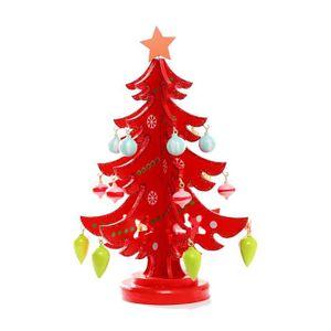 Personnalisé nom gravé en bois arbre de noël décoration babiole 7cm