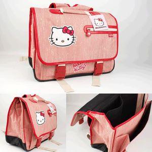 CARTABLE Cartable Hello Kitty rouge 41cm. Adapté du CE1 ...