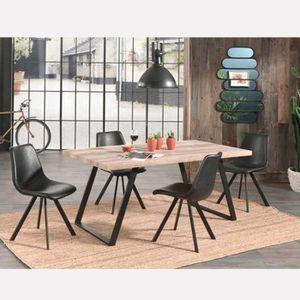 TABLE À MANGER SEULE Table à manger industrielle ELLENA 180x90 cm, en b