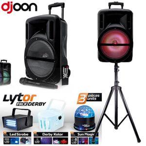 PACK SONO PACK Enceinte DJOON 500W LED  + PIED + PACK DERBY
