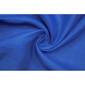 TISSU Tissu Lin Uni Bleu Roi 100% Coupon de 3 mètres