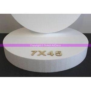 Support à décorer Disque polystyrène épaisseur 7 cm, 9 diam. au choi