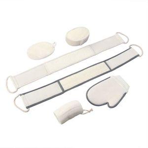 serviettes coton ensemble de 5 gants de toilette pour les soins de b/éb/é cr/ème-blanc Babymajawelt/® D/ébarbouillette 25x25 Premium