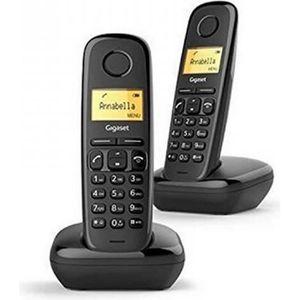 Téléphone fixe Gigaset A170 Duo Noir - Téléphone DECT - Pack Duo