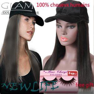 PERRUQUE - POSTICHE 12pouces Perruques de cheveux humains de chapeau d