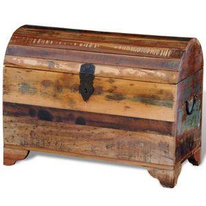 COFFRE - MALLE Coffre de Stockage en bois solide recyclé armoire