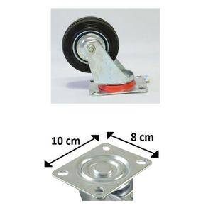 ROUE - ROULETTE Lot 4 Roulette Roue Pivotante Rotative 10cm 4