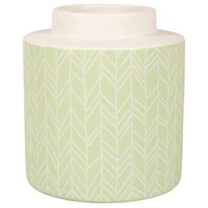 VASE - SOLIFLORE OSTARIA Vase cylindrique Chevrons - Ø 15,5  x  H 1