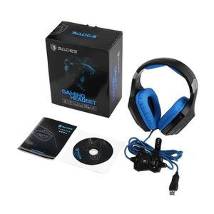 CASQUE AVEC MICROPHONE Sades A60 LED Color USB Vibration USB Gaming Heads