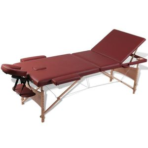 Table de massage Table de Massage Pliante 3 Zones 186 x 68 cm (L x