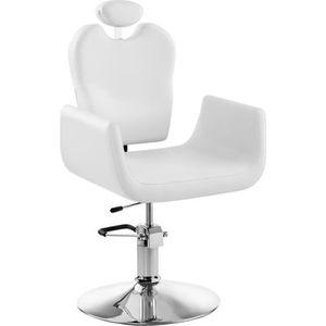 FAUTEUIL DE COIFFURE - BARBIER Fauteuil Salon de coiffure LIVORNO WHITE (hauteur