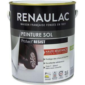 PEINTURE - VERNIS RENAULAC Peinture Sol Blanc - Satin - 2,5L - 35m²