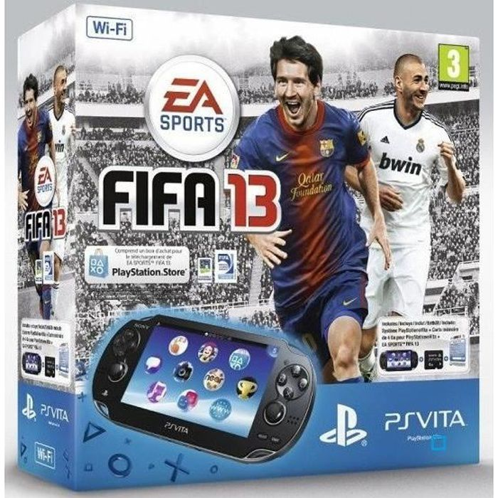Pack PS Vita WiFi + Coupon FIFA 13 + CM 4 Go