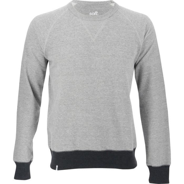 SOFTWR Sweatshirt col rond - Homme - Gris chiné