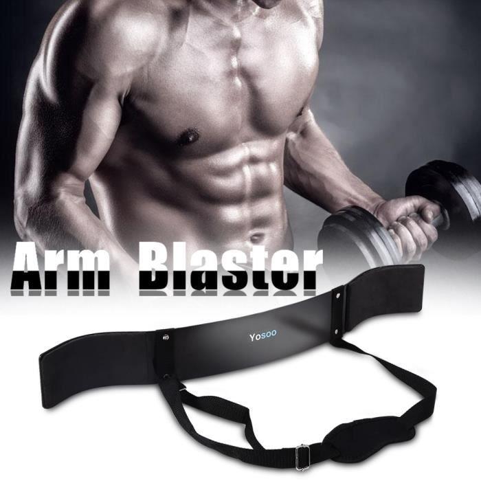 Biceps-Triceps Générateur de muscles en forme de barre de bâtisseur - noir