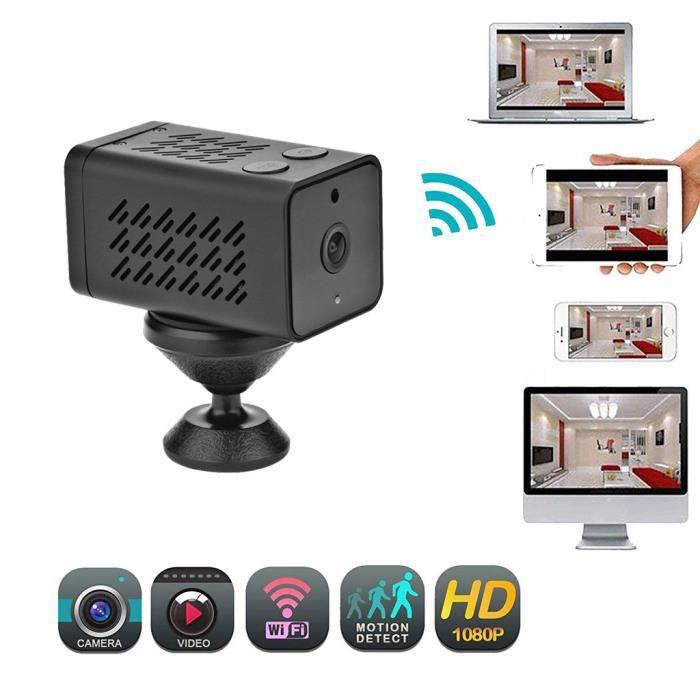 KIT CAMERA DE SURVEILLANCE - PACK VIDEOSURVEILLANCE - Mini caméra WiFi 1080P 1MP Enregistreur vidéo audio Détection de mouvement