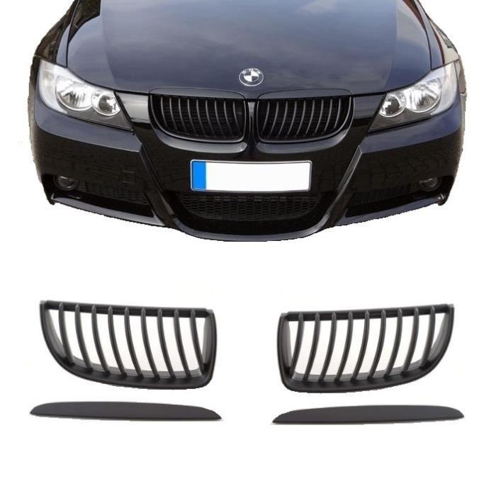 2 GRILLE DE CALANDRE NOIR BRILLANT GLOSSY BMW SERIE 3 E92 ET E93 PHASE 1