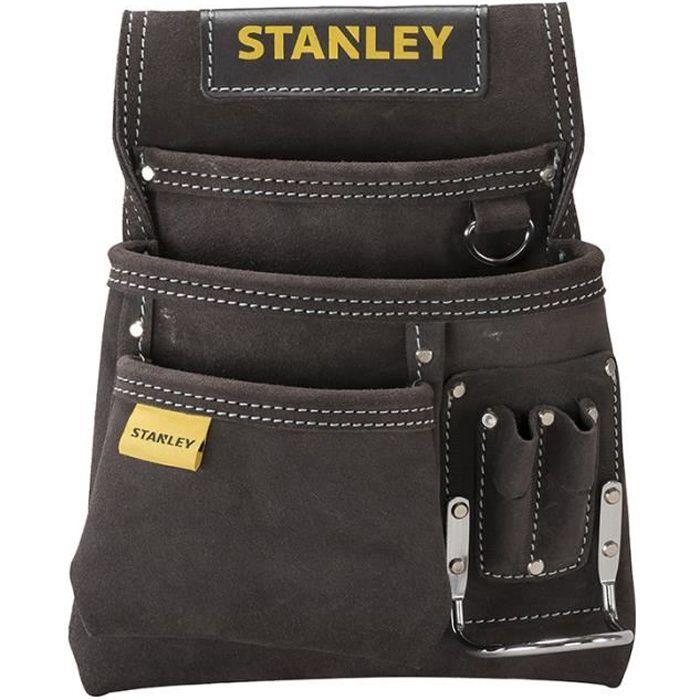 Porte-outils et porte-marteau cuir simple STANLEY - STST1-80114