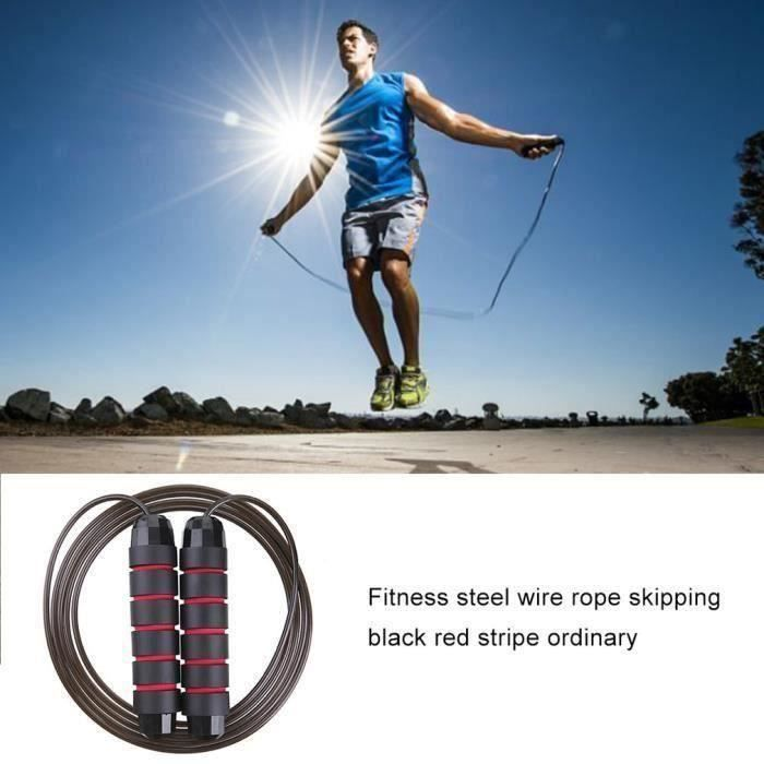 Corde à sauter Fitness Professionnel Corde à sauter fil d'acier - couleur aléatoire