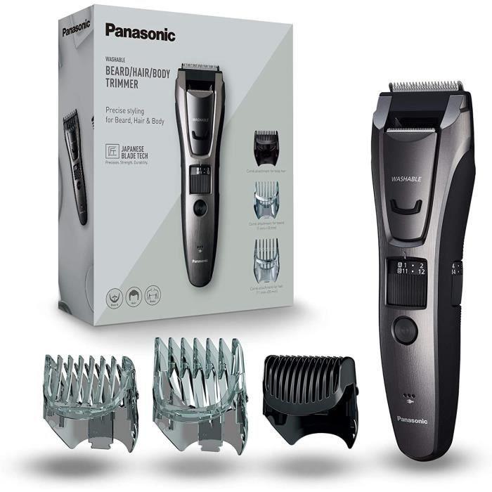 Panasonic ER-GB80-H503 - Tondeuse multi-usages Barbe/Cheveux/Corps avec 40 Réglages de 0,5 à 20mm, 3 Peignes inclus, Utilisation ave