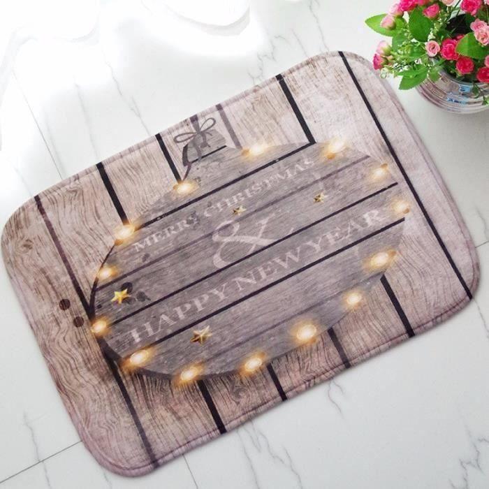 Tapis de Sol en Flanelle Pour Décor Maison Noël TYPE 1 Ve08252