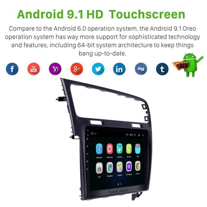 10.1 pouces Android 9.1 2Din autoradio GPS Navi lecteur multimédia stéréo pour VW Volkswagen Golf 7 2013 2014 2015 WIFI Configurati
