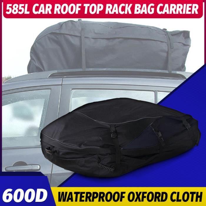 Sac de Toit Voiture pour Voyage Coffre De Toit Voiture Souple Oxford ou 420D bâche contre pluie/vent/neige-130x100x45cm