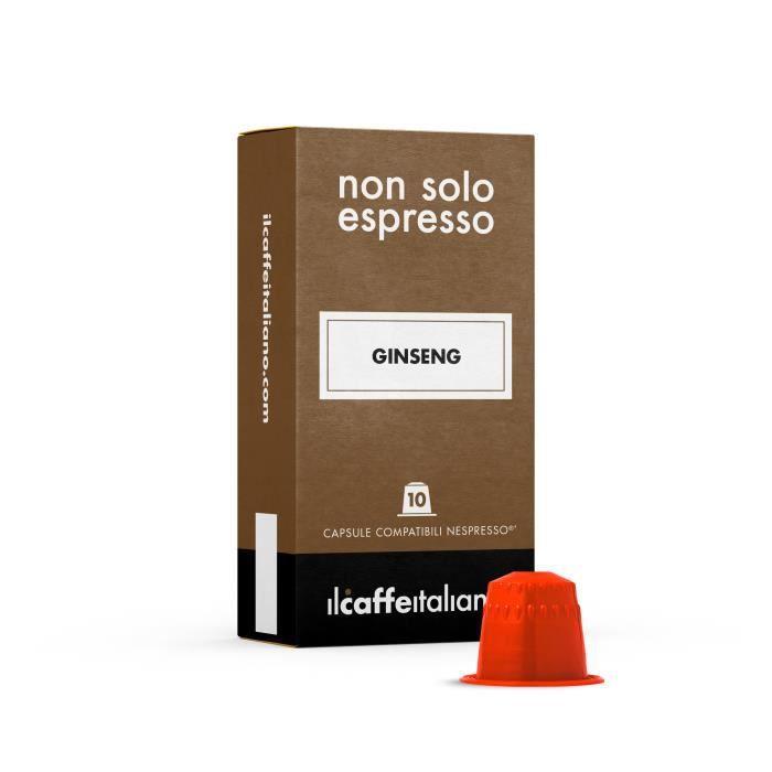 50 Capsules de Soluble Ginseng compatibles avec machines Nespresso - Nespresso 50 x Dosettes - Il Caffè Italiano