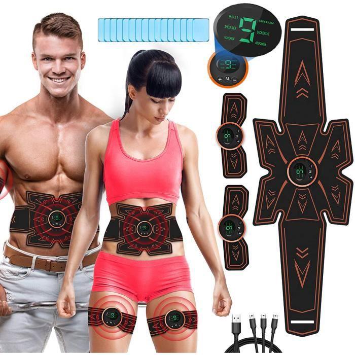 CEINTURE DE FORCE ceinture tonique abdominale Perte de poids rapide ceinture dentraicircnement musculaire pour les femmes et10