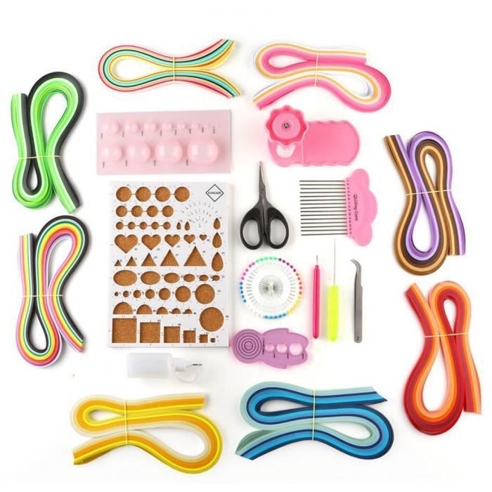 Quilling Kit Tool 3mm Paper Accessories Set W Quilling Strips DIY Design Tool Mishuowoti 204