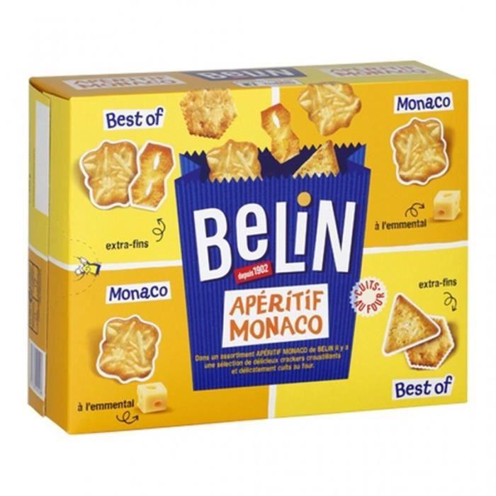 Belin L'Apéritif Monaco 4 Compartiments Fraîcheur 340g (lot de 4)