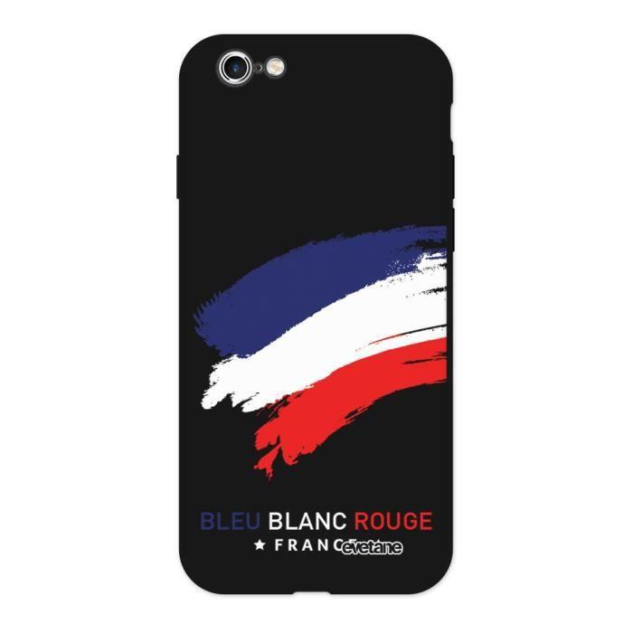 Coque iPhone 6/6S Silicone Liquide Douce noir France Ecriture Tendance et Design Evetane