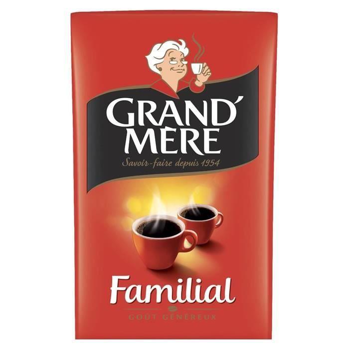 LOT DE 12 - GRAND MERE Familial - Café moulu - 250 g