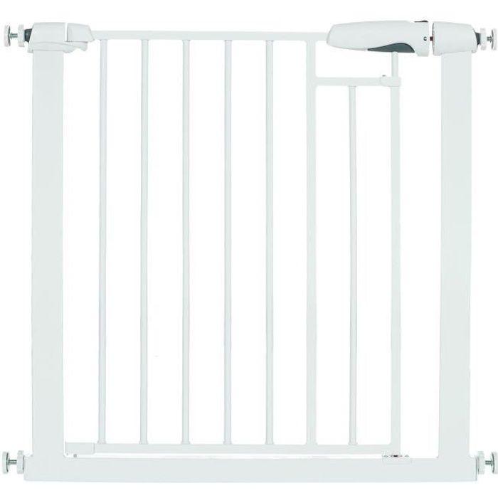 LCP Kids Barrière de sécurité porte sans perçage Bébé enfant en pour Escalier Blanc 90-97 cm