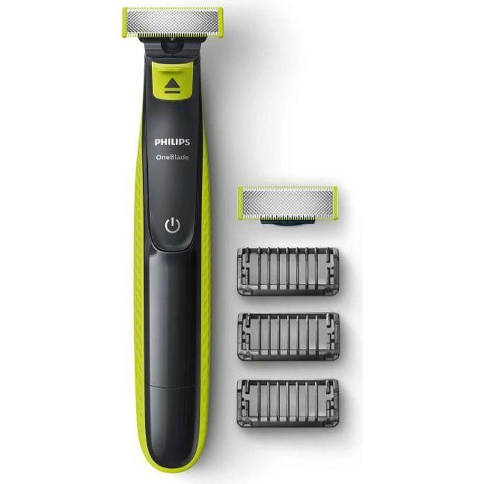 PHILIPS QP2520/30 - Rasoir/Tondeuse OneBlade + 1 lame de rechange + 3 sabots barbe - Sans fil
