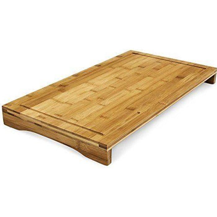 Planche à découper bambou Protège-plaque 52x29 cm