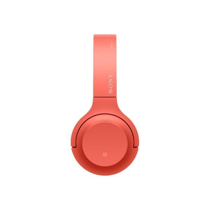 Sony h.ear on 2 Mini Wireless WH-H800 Casque pleine taille sans fil Bluetooth NFC* twilight red