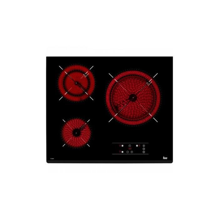 Plaques vitro-céramiques Teka TZ6320 60 cm Noir (3 zones de cuisson)-- S0408125