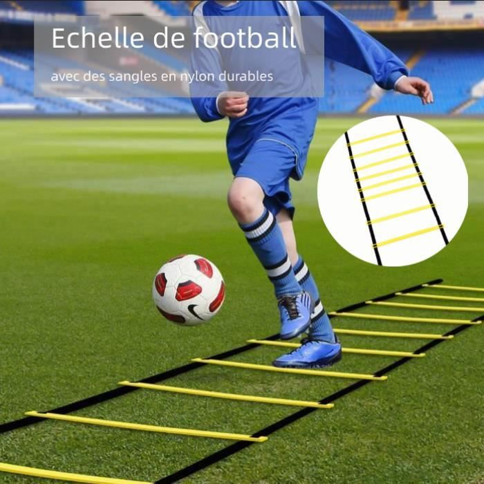 Échelles d'agilité d'entraînement Échelle de Rythme Coordination Jogging Football Agility Ladder Vitesse équipement 4M 8 Feuilles SI