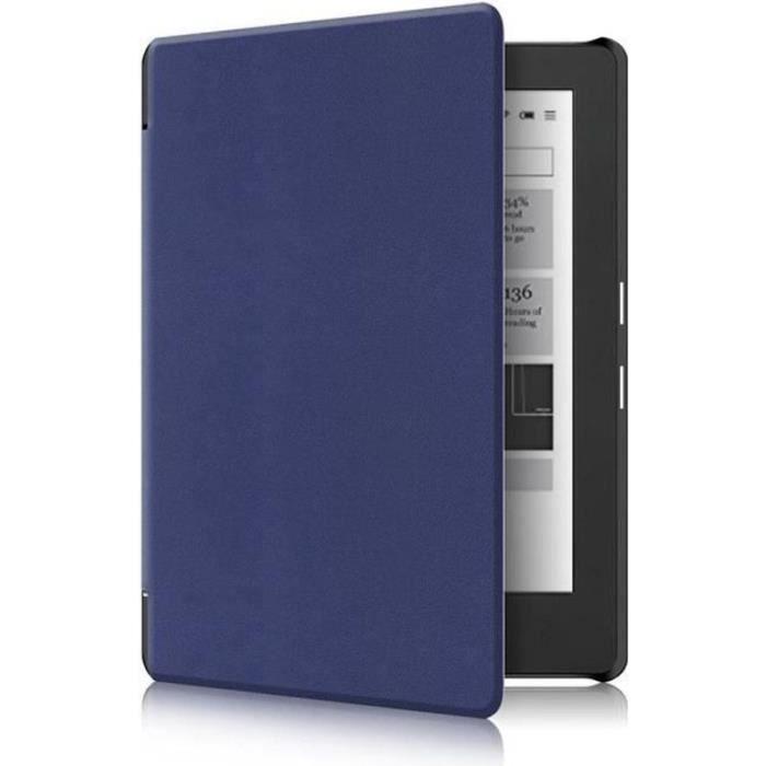 AWY25854-Kobo Aura H2O Edition 2 Etui - Folio Étui Housse Coque Ultra Mince et Léger à Rabat Fonction Réveil - Sommeil Automatique