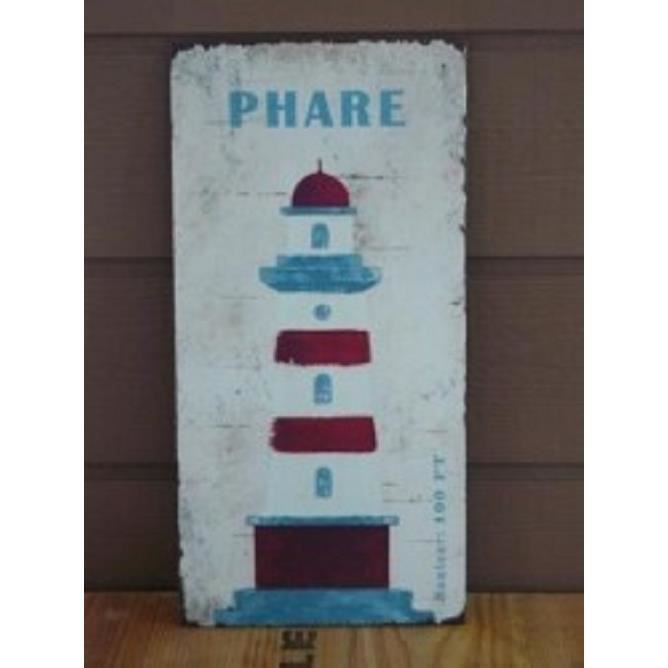 Plaque decorative murale le phare amadeus achat vente for Plaque murale decorative metal